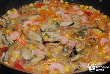 Рецепты:морепродукты