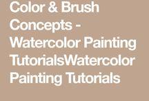 Watercolours/acrylics