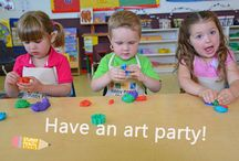 art supplies for kids / We love getting kids together for art parties!