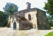 Eglises / l'architecture des églises et monuments religieux.