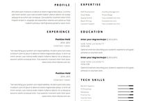 Resume template ideas