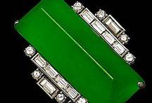 GREEN & silver...