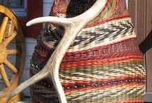 Antler Baskets / Nothing like crafting a basket around an antler