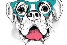 2018 год иллюстрации собак