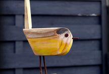 Woodwork birds