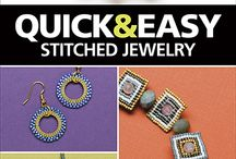 Fusion Beads March Challenge #MAKEITWEARITSHARE / My entries in the Fusion Beads challenge - most from my upcoming book - Quick & Easy Stitched Jewelry.