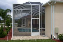 Pool Cages / Various Pool Cages that we've built from the ground up to make every sunny day in Florida more enjoyable!
