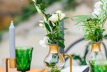 Greenery Hochzeitskonzept / Ein frisches, modernes Hochzeitskonzept mit vielen Grüntönen und tollen botanischen Elementen - umgesetzt in einem Styled Shoot in der Elbresidenz in Bad Schandau