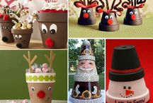 flower pots / crafts with flower pots / by Nathalie Adams