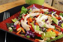 SALADS / Salad recipes of all types – green salads, salads in a jar, pasta salads, kale salads, chicken salad – you name it!