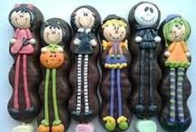 Paletas de bombon de hallowen