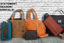 Look fabulous with our new arrivals! / Why fit in when you can stand out!  Exclusively for the season we give you a brand new range of #handbags which will have you smitten!  Made of exclusive cruelty-free synthetic leather these pieces with their eye catching #design and supreme functionality will make sure your days in the city are as stylish as they are merry!  So grab one today and get going, gorgeous!