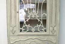 painted china cabinet/sideboard