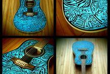 airbrush / Аэрография футболки авто гитара