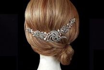 Rose Gold Headpieces & Hair Vines / Vintage bridal hair vines and headpieces with subtle touches of rose gold