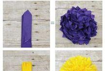 Květiny z ubrousků