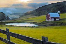 landscape farm house