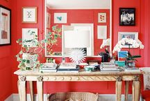 Colorful Interiors / by Corinne Kowal @emeraldgreeninteriors.com