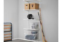 Shelves for wardrobe bedside lights and headboard