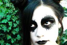 maquillaje de fantasia / hubo un tiempo en que con mi hermana menor, jugabamos a pintarle la cara <3