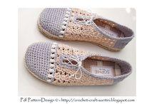 Crochet shoes, slippers...