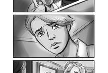 Storyboards / Sample of storyboards from the script book