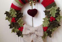 Karácsonyra ajtódísz