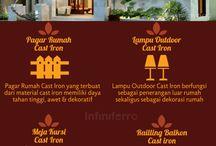 Infografis / Infografis mengenai furnicast dan produk cast iron lainnya serta tips&trik tentang dekorasi interior dan eksterior
