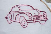 broderede biler
