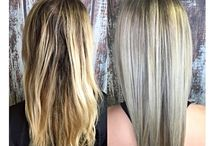 Our salon before and after