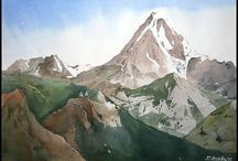 Akwarele góry