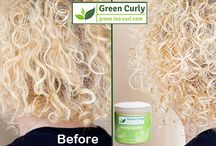 Before and After Using Green Tea Curl Glaze / If a picture says 1,000 words then these are saying that Green Curly's Green Tea Curl Glaze defines curls, eliminates frizz, locks in moisture, adds brilliant shine, and provides long-lasting hold. It is perfect for the entire family.