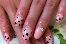pink gel nail designs / pink pink and more pink ! / by Maureen H