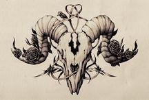 sleeve Aries skull