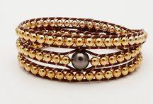 Perle de Tahiti et gold filled / Bracelet en perles de Tahiti et gold filled