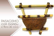 Vasos de Bambu com Fibra de Coco / Catálogo de vasos feitos com bambu e fibra de coco verde. #Paisagismo #FibradeCoco #CocoVerde #CocoVerdeReciclado #Reciclagem #Sustentabilidade #Aquarismo #Jardinagem