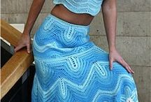 crochet skirt and top