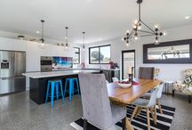 Two tone class / When the Oliver's were planning the extension of their home they wanted a fun kitchen that they could entertain in. It had to be designed in a way that made it functional for their family, with plenty of storage and bench space, and required the best in construction, hardware and surfaces. The result is a stunning kitchen in black and white with striking pops of colour from the beautiful splashback and accessories. The kitchen is fitted with blum soft close hardware and an engineered stone top.