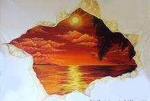 I miei dipinti e i miei disegni! :) / Disegni a carboncino, matita, tele dipinte in acrilico o in olio e trompe l'oeil