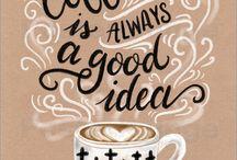 Handletteren koffie