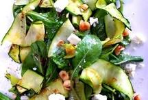 saláta  recept  tálalás