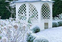 Зима в саду / Очарование садов в зимнее время