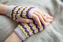 Crochet Gloves and Boot Cuff