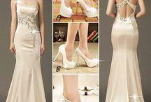 Společenské šaty - krémové
