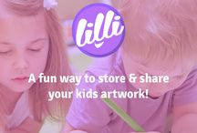 Meet Lilli :) / We are a platform for kid artists! Wanna upload your kids drawings and save some space off your fridge? Go to lillipaint.com