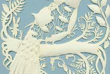 delicate paper cutouts