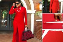 RED fashion for Fall / Nina Ramel Pattern Collection