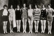 "Vintage swim wear - Pre-spandex.  When it really meant something to complain that ""this wool is itchy!"" / by Mike Hill"