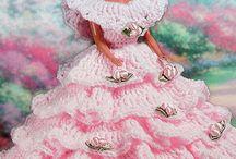heklede barbie/dukkeklær