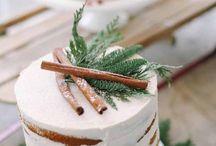 Gâteaux de mariage d'hiver